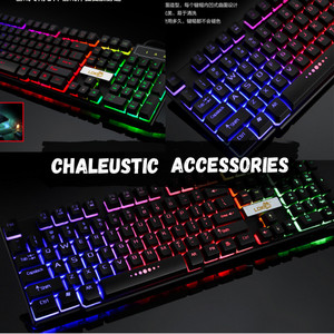 Harga set paket gaming keyboard mouse murah ori led   foto | HARGALOKA.COM