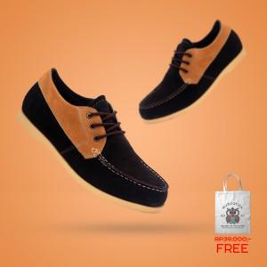 Harga sepatu casual handsewn genuine leather suede   murdoock     HARGALOKA.COM