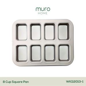 Harga 8 cup mini loaf pan loyang cetakan roti tawar sobek sisir tutup   8 cup loaf | HARGALOKA.COM