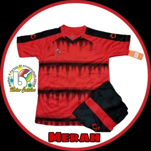 Harga set jersey bola amp futsal anak anak 7 13 thn cod   merah | HARGALOKA.COM