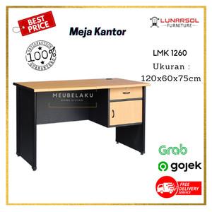 Harga meja kantor lmk 1260 meja tulis kantor 1 2 biro lunar   tanpa | HARGALOKA.COM