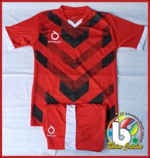 Harga stelan baju bola amp futsal anak jersey sepak bola anak 7 13 thn os v   merah | HARGALOKA.COM