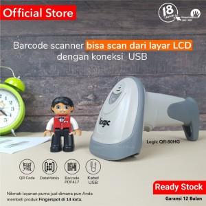Harga barcode scanner qr code logic qr 80 hg   otomatis scan   bisa scan   HARGALOKA.COM