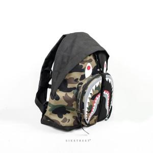 Harga tas ransel bape backpack shark black | HARGALOKA.COM
