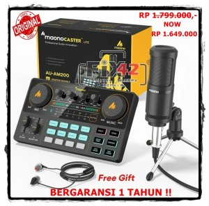 Harga maono am200 s1 lite portable soundcard microphone mixer kit condenser   HARGALOKA.COM