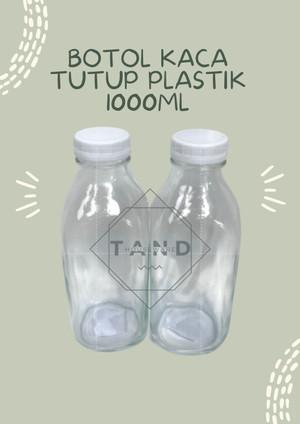 Harga botol kopi susu kaca tutup plastik 1000 ml ready | HARGALOKA.COM