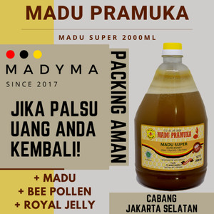 Harga madu pramuka super honey 2000 ml 2 liter 2 l royal jelly bee | HARGALOKA.COM