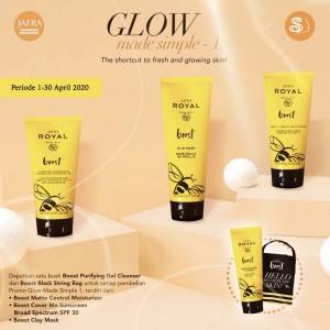 Harga skincare promo free cleanser royal boost   untuk kulit | HARGALOKA.COM