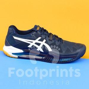 Harga sepatu tenis asics gel resolution 8 blue white yellow tennis shoes | HARGALOKA.COM