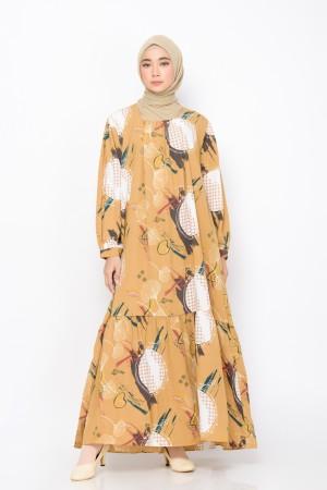 Harga zm zaskia mecca   fumi brown dress   edisi tenun buna   | HARGALOKA.COM