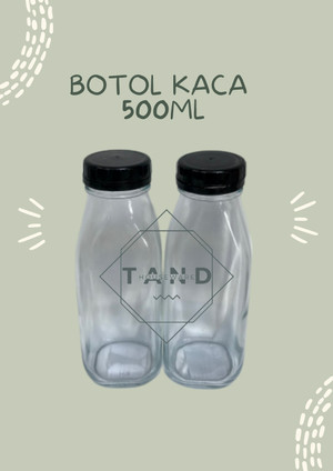 Harga botol kopi susu juice kaca tutup plastik 500 ml ready | HARGALOKA.COM