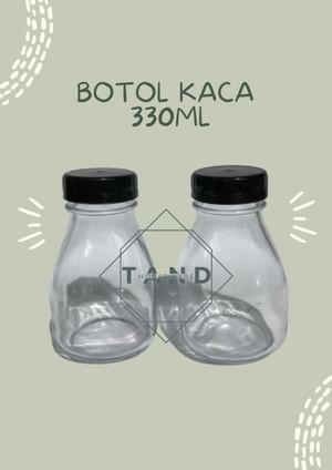 Harga botol juice susu kopi segi kaca 330 ml ready | HARGALOKA.COM