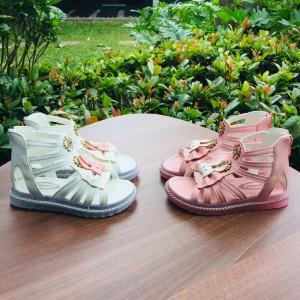 Harga sepatu sandal anak import model gladiator gambar rabbit kids   merah muda | HARGALOKA.COM