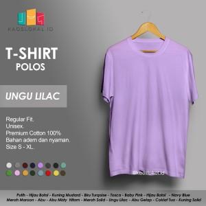 Harga kaos polos baju pria kaos pria premium lengan pendek ungu lilac   | HARGALOKA.COM