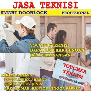 Harga voucher jasa pasang instalasi digital door lock kantor | HARGALOKA.COM