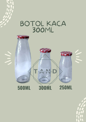 Harga botol susu kaca milk bottle 300ml ready stock 1pcs | HARGALOKA.COM