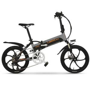 Harga lankeleisi g300 sepeda elektrik lipat smart 48v 10 4ah   black | HARGALOKA.COM
