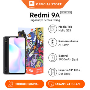 Harga xiaomi official redmi 9a 2 32gb 6 53 34 hd mi smartphone ai face unlock   sp edition   HARGALOKA.COM