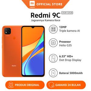 Harga xiaomi official redmi 9c 3 32gb 6 53 34 hd mi smartphone ai face unlock   | HARGALOKA.COM