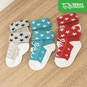 Harga kaos kaki bayi anak 3 set warna unik dan lucu banget untuk 6   | HARGALOKA.COM
