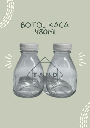 Harga botol kaca segi juice susu kopi 480 ml ready | HARGALOKA.COM