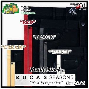 Harga rucas season 5 stripes denim all variant jeans limited edition   white | HARGALOKA.COM