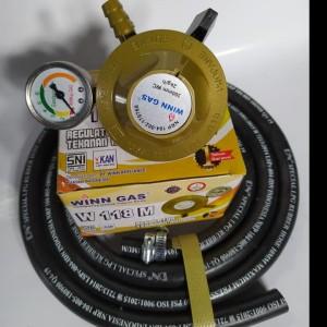 Harga regulator winn gas w 118 m selang gas lpg 400 psi dn original | HARGALOKA.COM