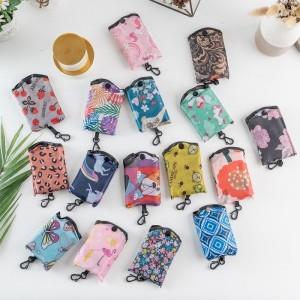Harga eco friendly polyester reusable shopping bag tas kantong belanja pasar   | HARGALOKA.COM