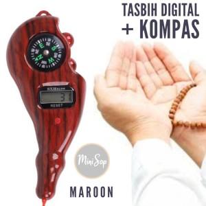 Harga tasbih digital kayu manik alat hitung digital tasbih sultan kompas   | HARGALOKA.COM