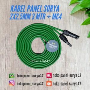 Harga kabel panel surya 2x2 5mm mc4 konektor kabel 3 mtr plus | HARGALOKA.COM