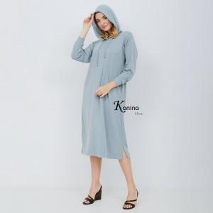Harga loose dress hoodie kapucon trendi baby denim baju   HARGALOKA.COM