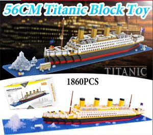 Harga lego 1860 pcs titanic model kapal pesiar blok bangunan bata kit   HARGALOKA.COM