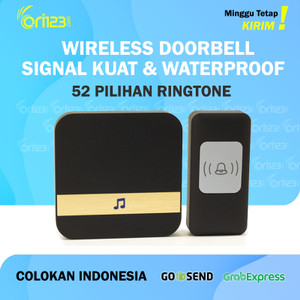 Harga bel rumah wireless door bell pintu doorbell waterproof tz80   | HARGALOKA.COM