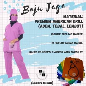 Harga baju jaga baju ok seragam jaga seragam ok   maroon | HARGALOKA.COM