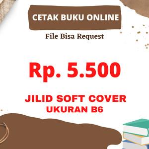 Harga b6 jilid soft cover cetak online buku jurnal tugas pdf sehari   HARGALOKA.COM