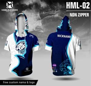 Harga jersey hoodie mobile legends evos baju ml kaos game   biru | HARGALOKA.COM