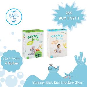 Harga yummy bites rice crackers 25gr buy 1 get 1 babypausshop snack | HARGALOKA.COM