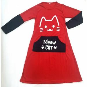 Harga baju gamis anak perempuan usia 5  10 tahun adem murah berkualitas   merah xl 7 8 tahun | HARGALOKA.COM