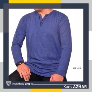 Harga kaos muslim pria baju cowo lengan panjang kaos laki kurta   nwz azhar   denim | HARGALOKA.COM