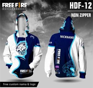 Harga jersey hoodie free fire baju ff evos kaos game lengan panjang   biru | HARGALOKA.COM
