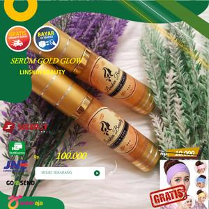 Harga serum wajah gold acne flek glow linskin beauty skincare   serum   HARGALOKA.COM