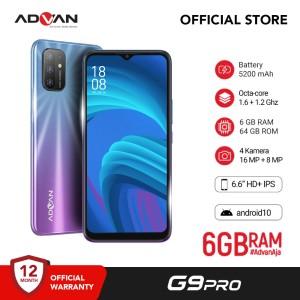 Harga advan g9pro 6 6 34 6gb 64gb quadcam octacore android10 garansi resmi   | HARGALOKA.COM