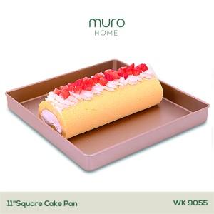 Harga cetakan loyang kue kering bolu gulung nastar kotak persegi non stick   27cm square   HARGALOKA.COM