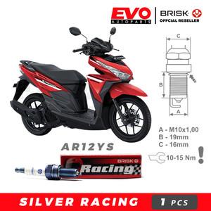 Harga busi brisk silver racing ar12ys untuk motor honda vario | HARGALOKA.COM