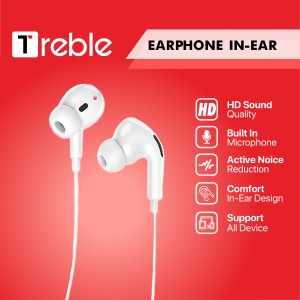 Harga jy x treble earphone joyseus hd sound quality with mic white   | HARGALOKA.COM