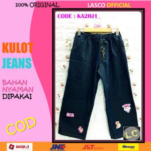 Harga 10 baju kulot jeans denim anak retro hijau denim 11 12th dgn gbr tmpel   | HARGALOKA.COM