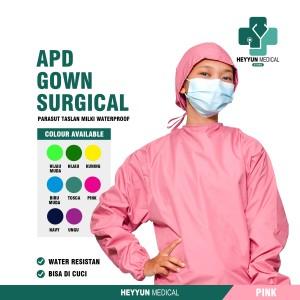 Harga surgical gawn apd gown baju bedah operasi baju tenaga medis surgical   merah | HARGALOKA.COM