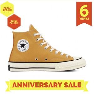 Harga converse chuck taylor 70s hi sunflower egret sepatu original all star   kuning | HARGALOKA.COM