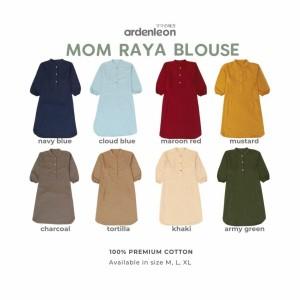 Harga baju raya blouse ardenleon dewasa wanita   navy blue | HARGALOKA.COM
