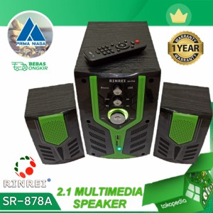 Harga speaker aktif 2 1 subwoofer multimedia bluetooth remote rinrei | HARGALOKA.COM
